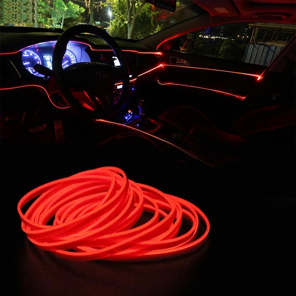 Car Interior LED Ambient Lights Red - Shopptique