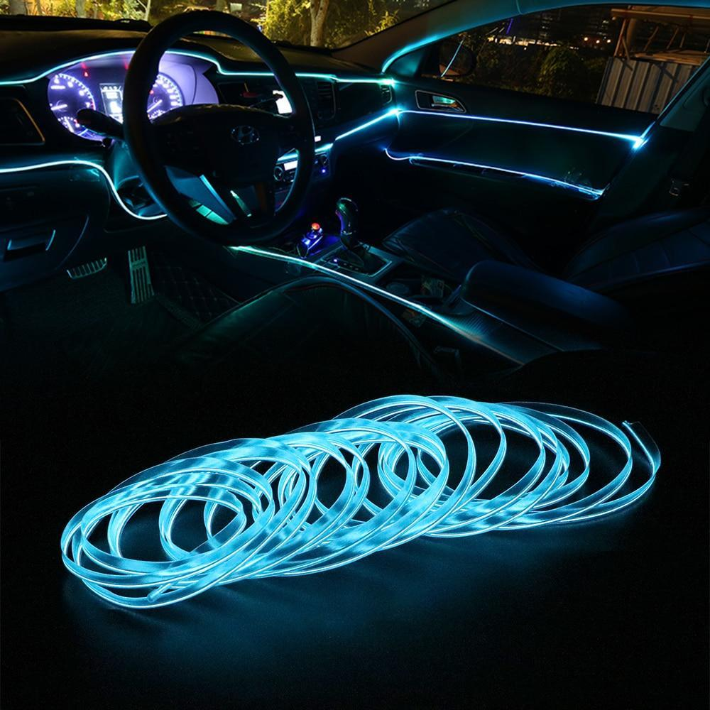 Car Interior LED Ambient Lights Ice Blue - Shopptique