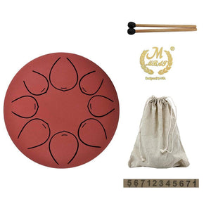 Steel Tongue Hang Drum Pan Hand Drum Red - Shopptique