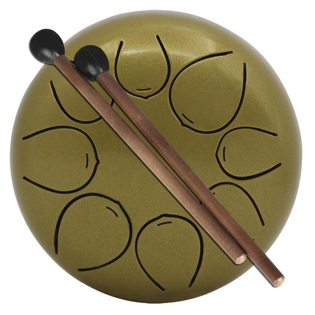 Steel Tongue Hang Drum Pan Hand Drum Gold - Shopptique