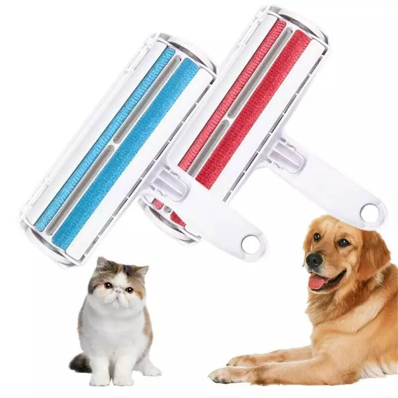 Reusable Pet Hair Remover Set of Red & Blue - 20% OFF - Shopptique
