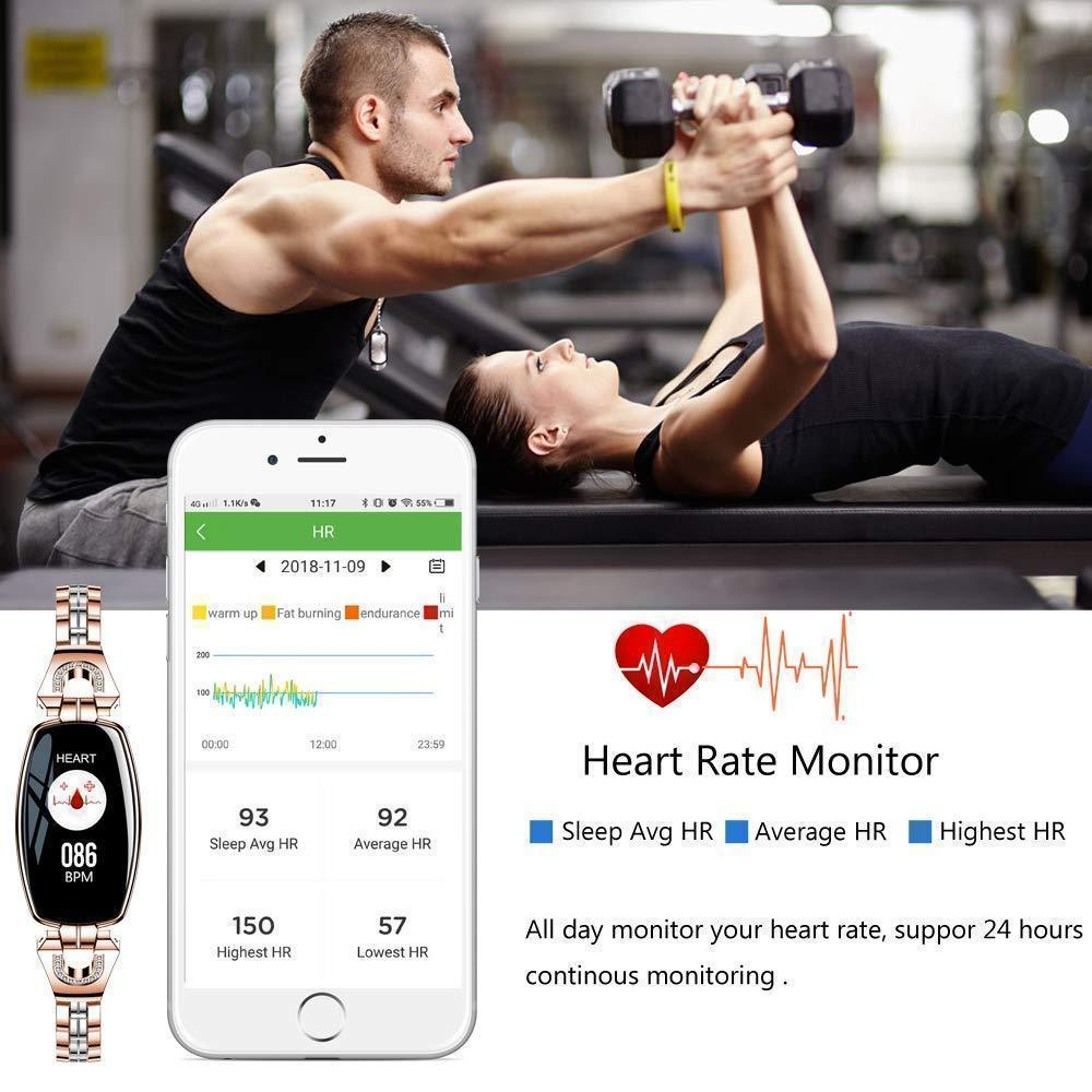 Premium Smart Watch For Women - Compatible with Android & iOS Smartwatch Fitness Tracker - with Blood Pressure Monitor - Shopptique