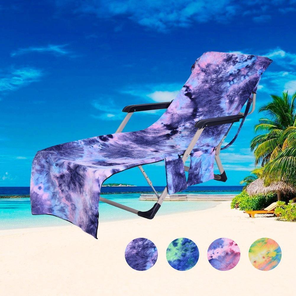 2-in-1 Beach Towel Tote Sun Lounger Beach Towel - Pocketed Beach Towel Blue - Shopptique