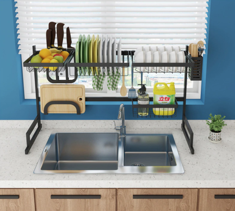 Over Kitchen Sink Dish Drying Rack 34in - Shopptique
