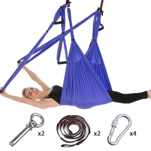 Anti-Gravity Yoga Hammock Yoga Swing - Yoga Hammock - Aerial Yoga Hammock Blue - Shopptique