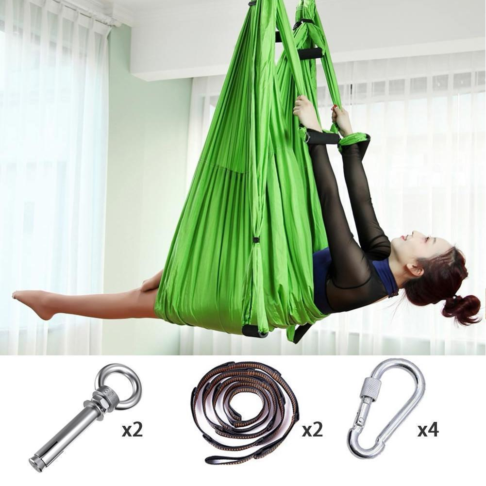 Anti-Gravity Yoga Hammock Yoga Swing - Yoga Hammock - Aerial Yoga Hammock Green - Shopptique