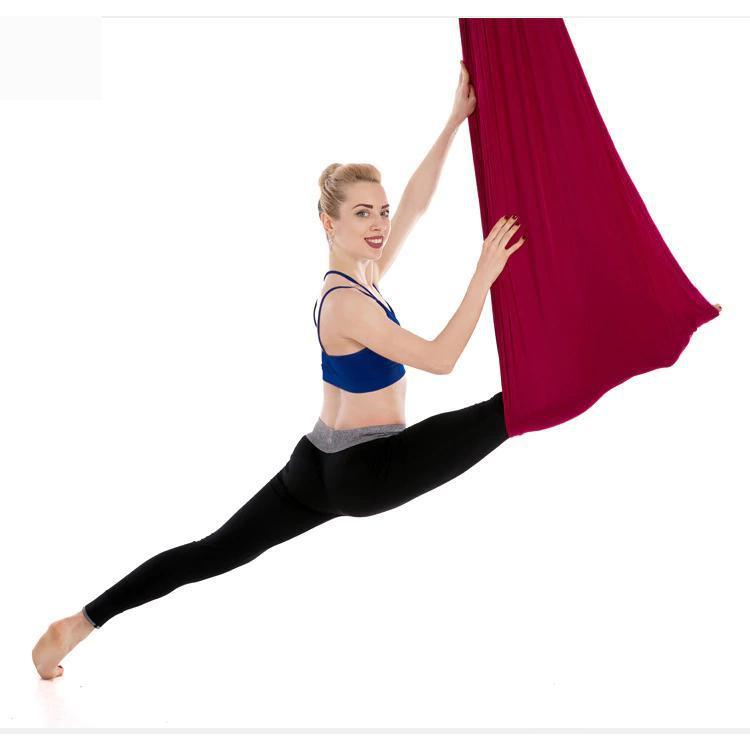 Anti-Gravity Yoga Hammock Yoga Swing - Yoga Hammock - Aerial Yoga Hammock Maroon - Shopptique
