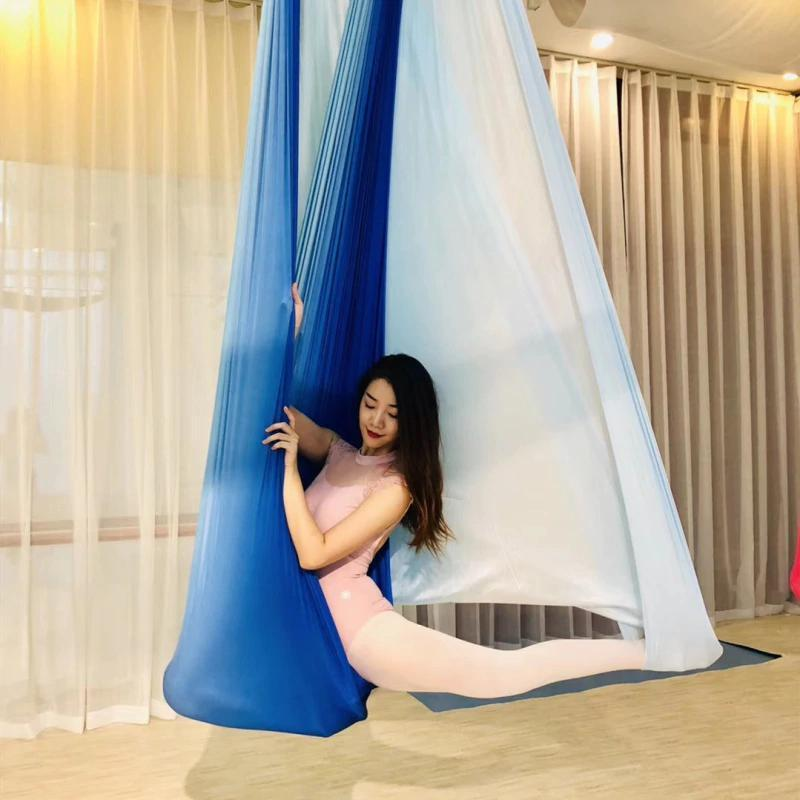 Anti-Gravity Yoga Hammock Yoga Swing - Yoga Hammock - Aerial Yoga Hammock Multi Blue - White - Shopptique