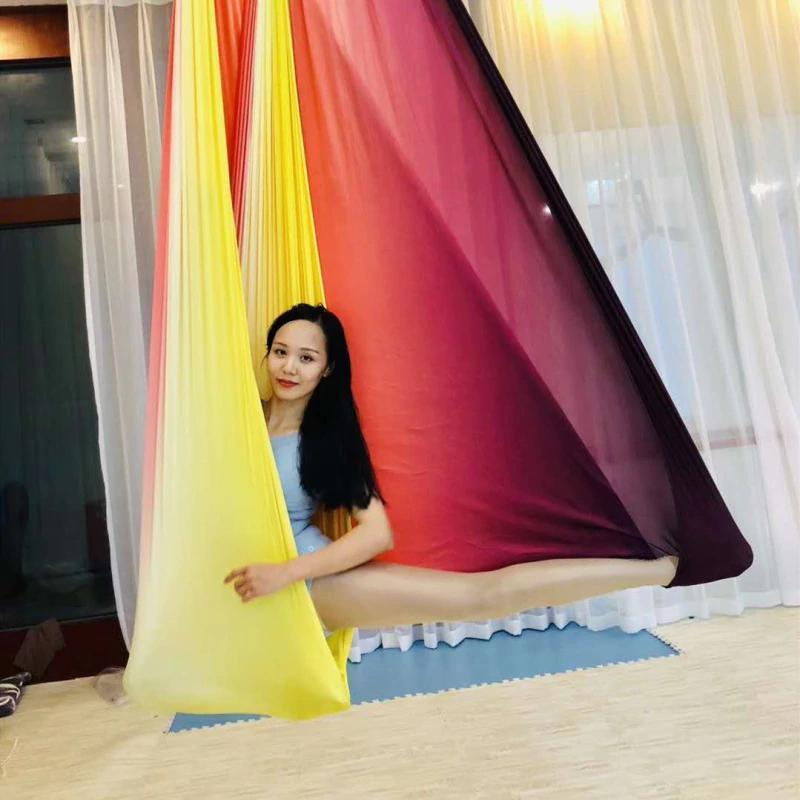 Anti-Gravity Yoga Hammock Yoga Swing - Yoga Hammock - Aerial Yoga Hammock Multi Yellow - Red - Shopptique
