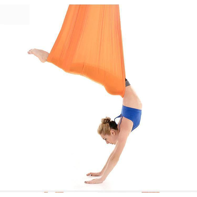 Anti-Gravity Yoga Hammock Yoga Swing - Yoga Hammock - Aerial Yoga Hammock Orange - Shopptique