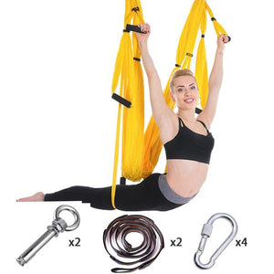 Anti-Gravity Yoga Hammock Yoga Swing - Yoga Hammock - Aerial Yoga Hammock Yellow - Shopptique