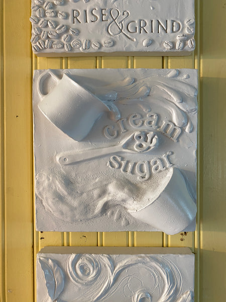 Cream & Sugar Kitchen Relief Wall Sculpture - Exclusive to The Sculpture Store