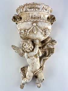 Cupid Holding Planter