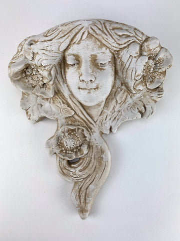 French Art Nouveau Wall Sculpture Planter