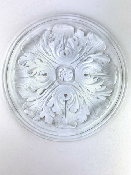 "13"" Round Domed Acanthus Leaf Ceiling Medallion"