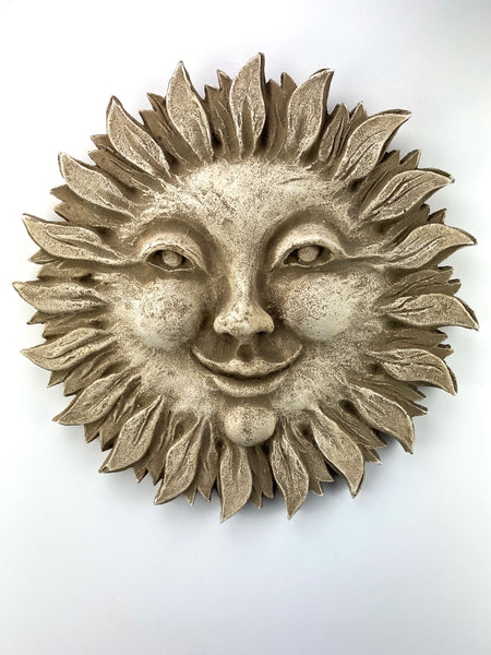 Flaming Sun Smiling Cheeks Wall Sculpture