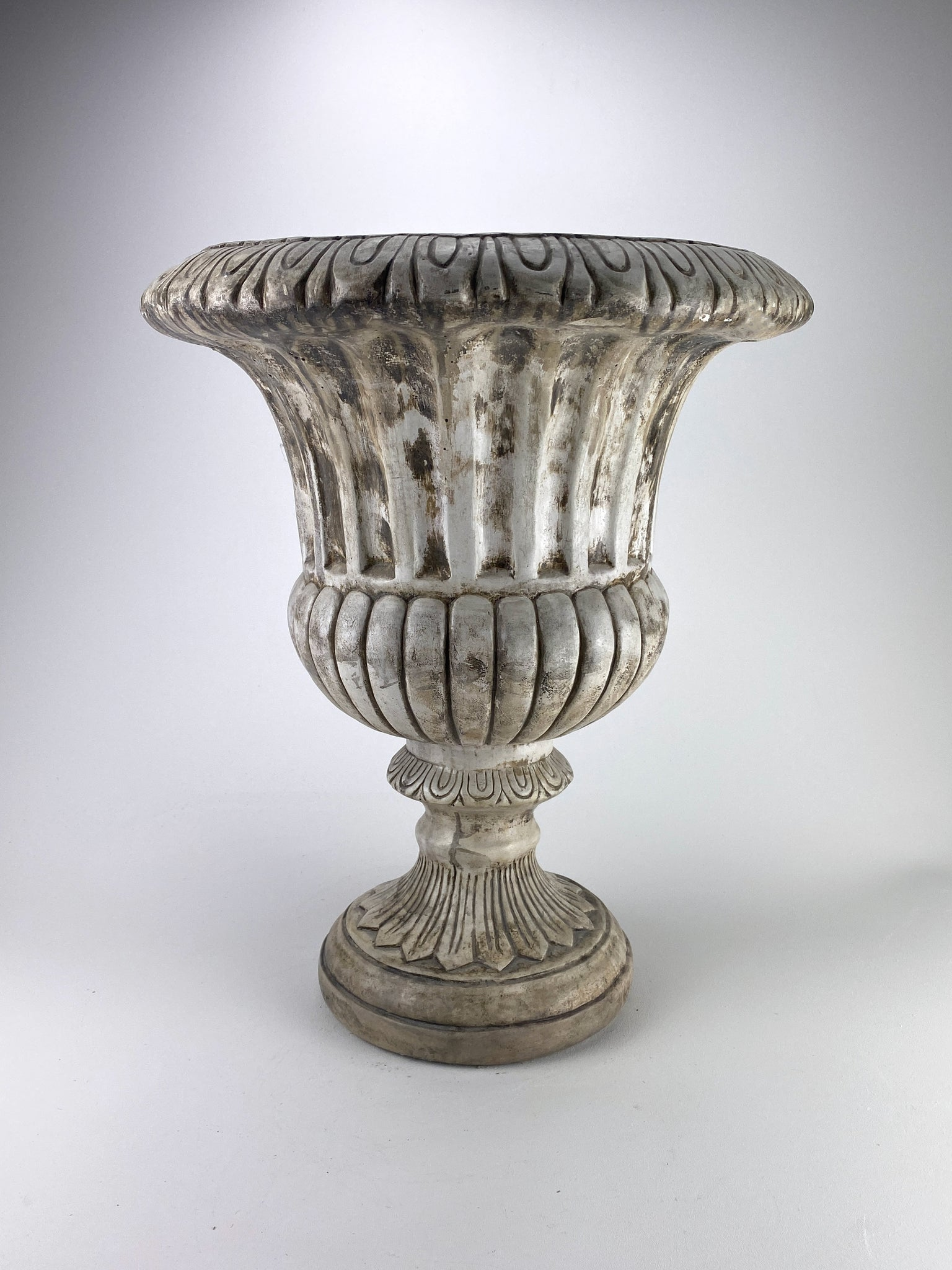 Large Fluted Pedestal Planter