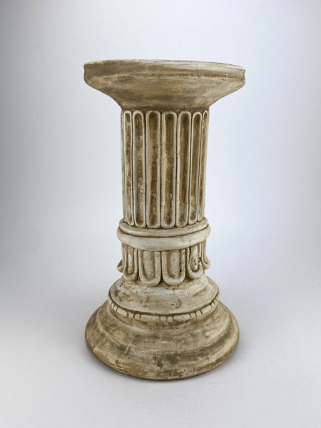 "16"" Greek Tuscan Fluted Column Pedestal"