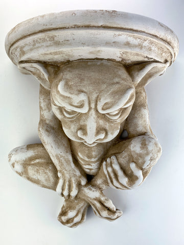 Large Goblin Gargoyle Sconce Wall Shelf