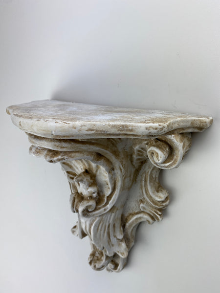Shell Scroll Work Shelf