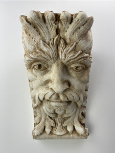 King Face Green Man Corbel