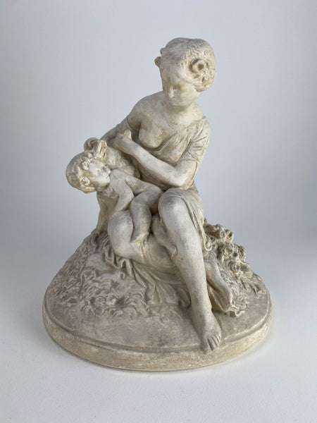 Victorian Mother and Child Statue