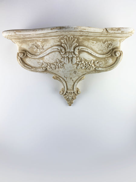 Vintage Victorian Flowers and Shell Bracket