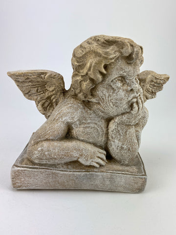 Rare Raphael Daydreaming Sistine Chapel Cherub Sculpture