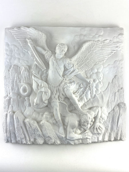 "20X21"" Saint Michael the Archangel in Battle with Lucifer"