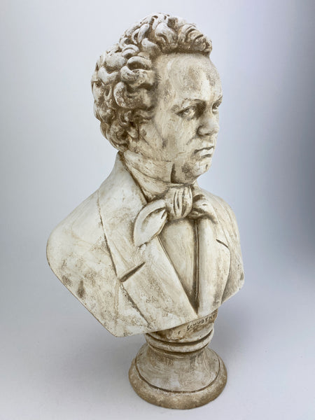 Composer Franz Schubert Bust Sculpture