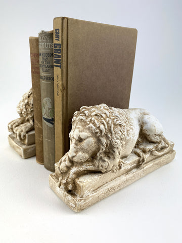 Sleeping Lions Vatican Canova Rare Reproduction Bookends