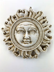 "10"" Curly Rays Sun Face Wall Sculpture"
