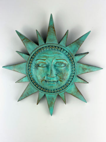 Helios Sun with Spikes Wall Sculpture