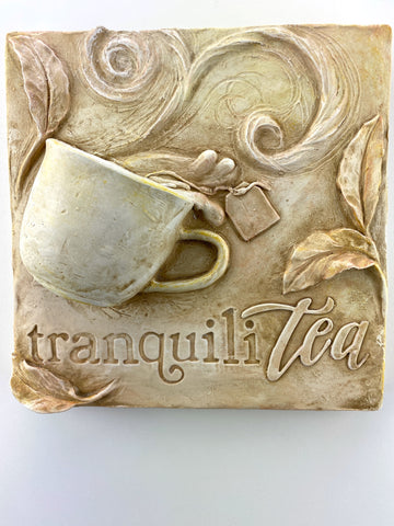 TranquiliTea Kitchen Relief Wall Sculpture - Exclusive to The Sculpture Store