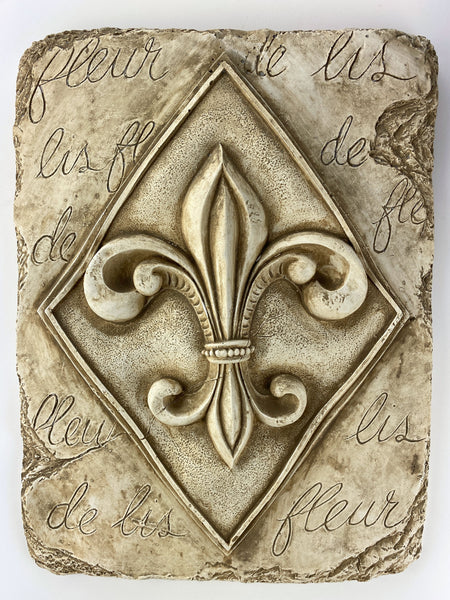 Fleur-de-lis French Wall Plaque