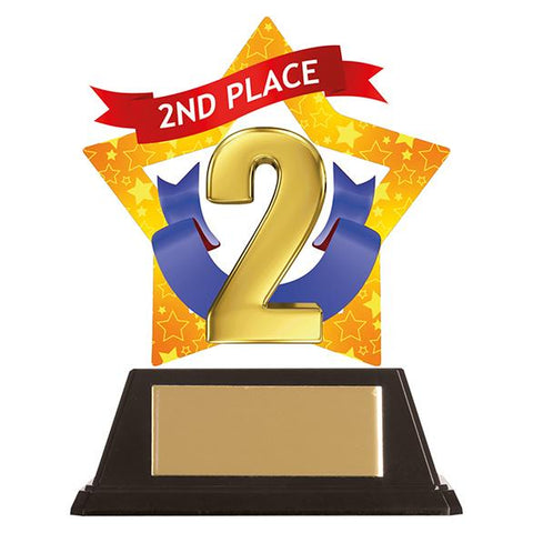 Mini-Star 2nd Place Acrylic Plaque AC19627