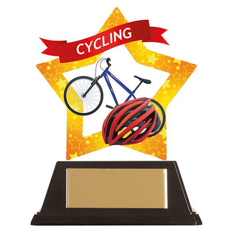 Mini-Star Cycling Acrylic Plaque AC19644