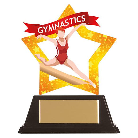 Mini-Star Gymnastics Acrylic Plaque Female AC19669
