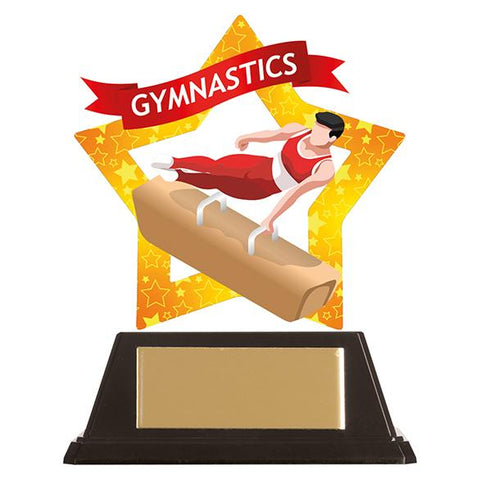 Mini-Star Gymnastics Acrylic Plaque Male AC19670