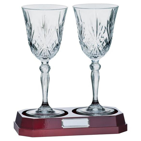 Lindisfarne St Joseph Crystal Wine Glasses CR1739
