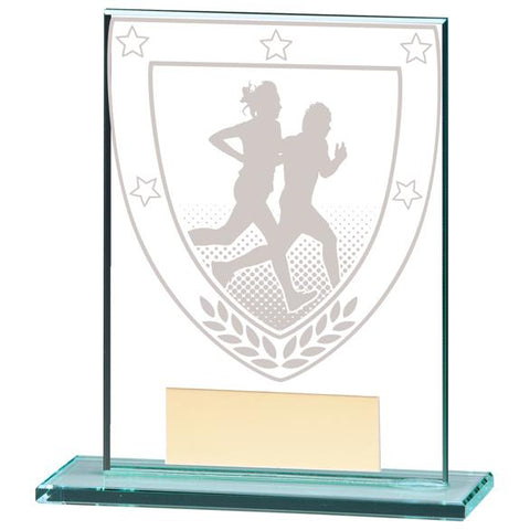 Millennium Running Jade Glass Award CR20390
