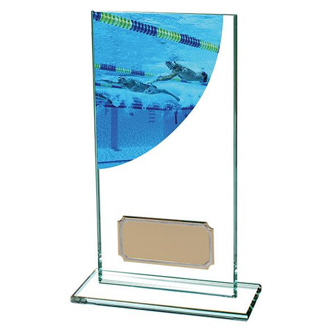 Colour Curve Swimming Jade Glass Award CR4828A