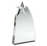 Glass Award with Metal Star JB1500