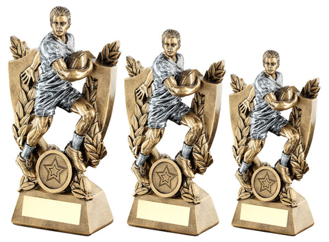Rugby Male Resin Trophy RF634