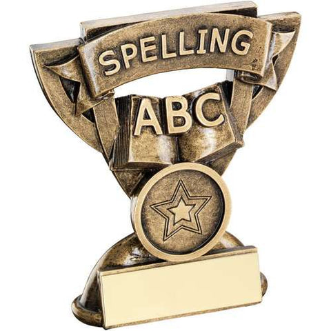 "Spelling 3.75"" School Trophy (RF819)"