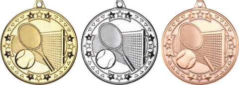 Tennis 50mm Medal & Ribbon (M75)
