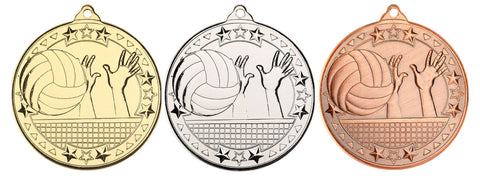 Volleyball 50mm Medal & Ribbon (M97)