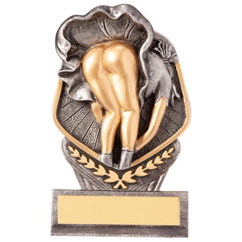 Renegade Golf Legend Award Antique Bronze & Gold TH17258