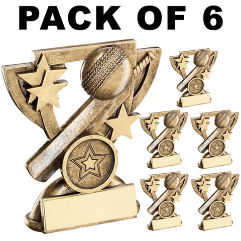 6 PACK Cricket Resin Awards RF812 SALE
