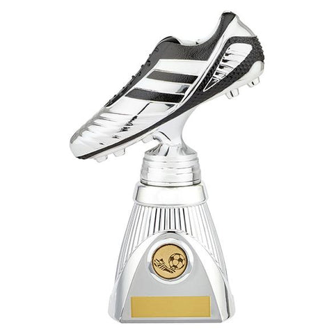 World Striker Deluxe Football Boot Award Silver & Black PM19203